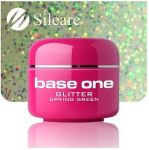 glitter 22 Spring Green base one żel kolorowy gel kolor SILCARE 5 g